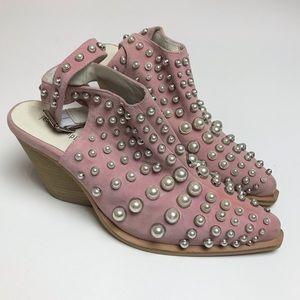 Jeffrey Campbell pink pearl embellished heels 9.5